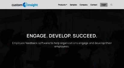 custominsight.com - 360 degree feedback, employee engagement surveys, employee satisfaction - custominsight