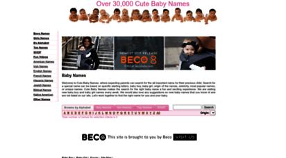 cutebabynames.org - cute baby names, baby boy, girl, origin, meanings: cutebabynames.org