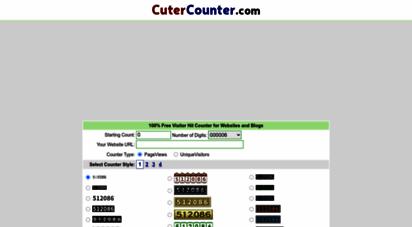 cutercounter.com - cutercounter - free web hit counter / visitor counter