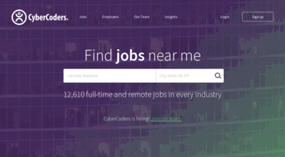 cybercoders.com - find jobs and talent  cybercoders recruiting  cybercoders