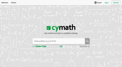 cymath.com - cymath  math problem solver with steps  math solving app