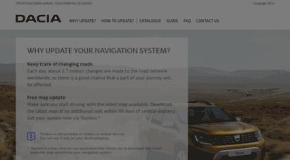 Welcome to Dacia naviextras com - Dacia Media Nav (Evolution) mapupdate