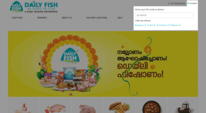 Welcome to Dailyfish in - Buy Fish online @ Bengaluru |Kochi
