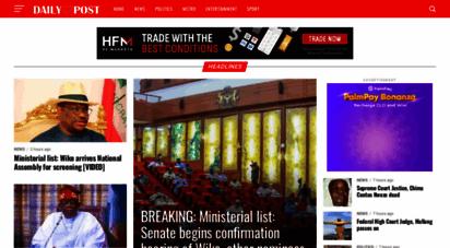 dailypost.ng - daily post - nigeria news, nigerian newspapers