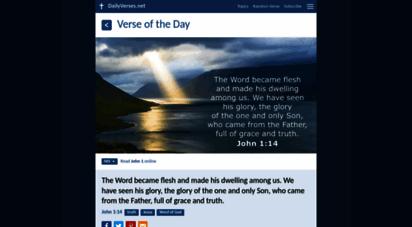 dailyverses.net - bible verse of the day - dailyverses.net