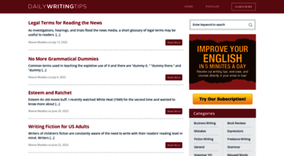 dailywritingtips.com - daily writing tips