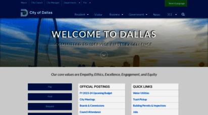 dallascityhall.com - welcome to the city of dallas, texas