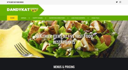 dandykat.com - dandy kat - up-to-date fast food menus and prices