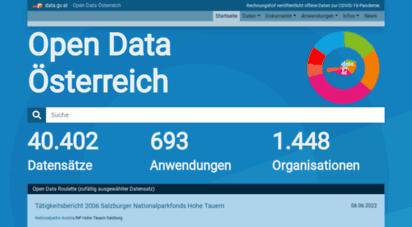 data.gv.at - offene daten österreich  data.gv.at