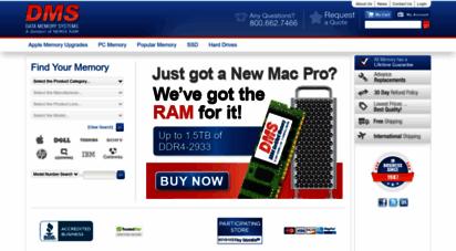 datamemorysystems.com - datamemorysystems.com - computer memory upgrades, pc memory, apple memory, server memory, flash memory, hard drives and more