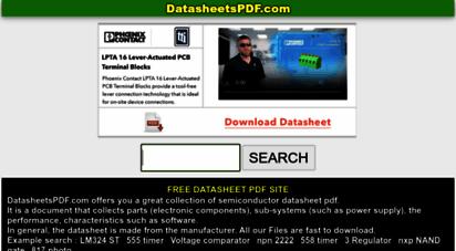 datasheetspdf.com - datasheetspdf.com - free electronic components datasheet search & download site