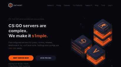dathost.net - dathost - cs:go and teamspeak servers for teams and communities