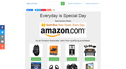 daysofyear.com - days of year 2020: special days, funny days, holidays and celebrations in 2020