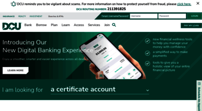 Dcu Car Loan >> Welcome To Dcu Org Dcu Personal Business Banking