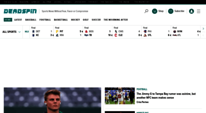 deadspin.com - deadspin  sports news without fear, favor or compromise