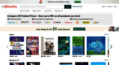 dealoz.com - compare new and used book prices  buy, rent, sell textbooks