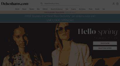 debenhams.com - debenhams uk - fashion, beauty, gifts, furniture & electricals