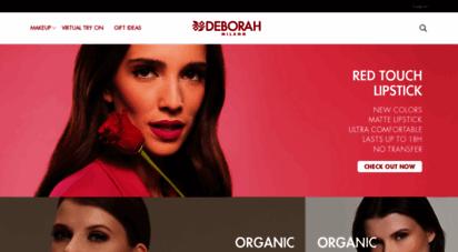 deborahmilano.com - cosmetics, make up products, makeup and nail art tutorial  deborah milano