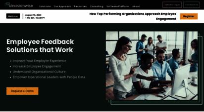 decision-wise.com - 360 degree feedback and employee engagement surveys - decisionwise, inc.