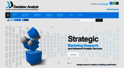 decisionanalyst.com - decision anlyst - custom marketing research & marketing consulting