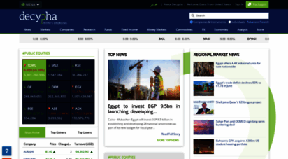 decypha.com - financial intelligence on middle east companies, market and sectors  financial markets news & research - decypha