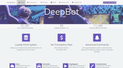deepbot.tv - deep bot  deep bot - twitch streamer ssistant