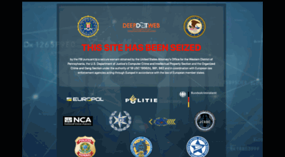 deepdotweb.com - domain seizure