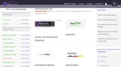 deeponionweb.com - deeponionweb  deep web news .onion directory darknet market links