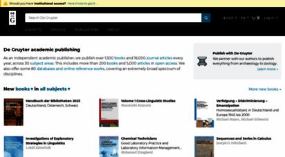 degruyter.com - de gruyter - academic publishing