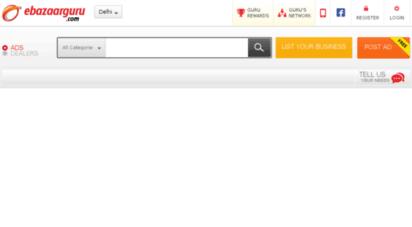 Welcome to Delhi ebazaarguru com - Free Classifieds in Delhi