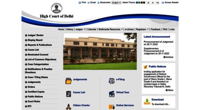 delhihighcourt.nic.in - welcome to high court of delhi