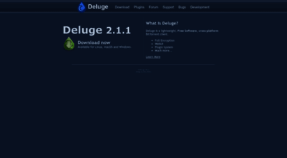 deluge-torrent.org - deluge bittorrent client