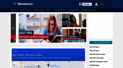 denemecoz.com - deneme çöz - yks, lgs, dgs, kpss sınavları