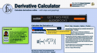 derivative-calculator.net - derivative calculator • with steps!