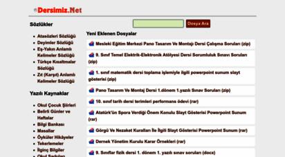 dersimiz.net - eğitim öğretim kaynakları sitesi