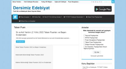 dersimizedebiyat.org - dersimiz edebiyat