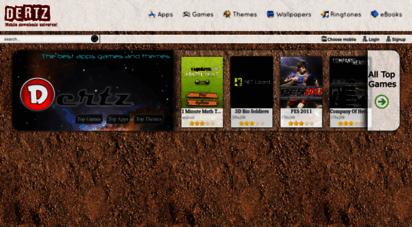dertz.in - dertz: mobile games  themes  apps  wallpapers  ringtones