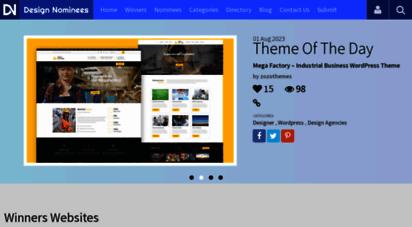 designnominees.com - css awards  app awards  game awards css award gallery  design awards  designnominees