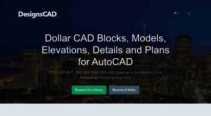 designscad.com - dollar cad blocks, models, elevations, details and plans for autocad • designs cad