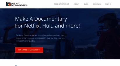 desktop-documentaries.com - desktop docmentaries: diy filmmaking, how to make a docmentary