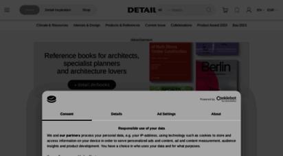 detail-online.com - home- detail - magazine of architecture  construction details