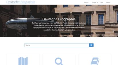 deutsche-biographie.de - deutsche biographie