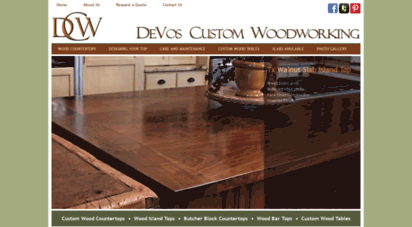 Welcome to Devoswoodworking.com - Custom Wood Countertops ...