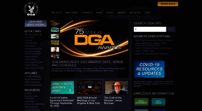 dga.org - dga, homepage