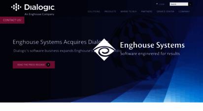 dialogic.com - cloud-optimized real-time communications solutions  dialogic