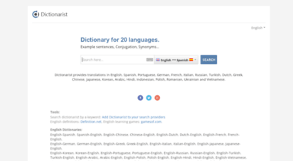 dictionarist.com - dictionarist - online talking dictionary