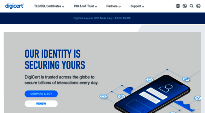 digicert.com - ssl digital certificate authority - encryption & authentication