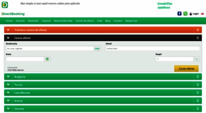 directbooking.ro - early booking litoral 2020 - 2021. vacante romania, grecia, bulgaria, turcia. directbooking.ro