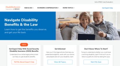 disabilitysecrets.com - social security disability. secrets & legal information.  disabilitysecrets