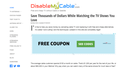 disablemycable.com - disablemycable - save thousands on cable tv bills